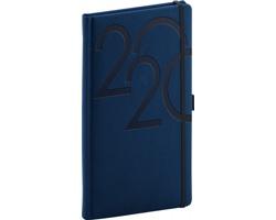 Kapesní týdenní diář Ajax 2020, 9x16cm - modrá