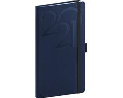 Kapesní týdenní diář Ajax 2021, 9x16 cm - modrá