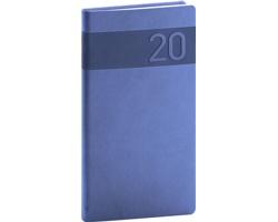 Kapesní týdenní diář Aprint 2020, 9x16cm - modrá