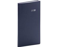 Kapesní týdenní diář Balacron 2021, 9x16 cm - tmavě modrá