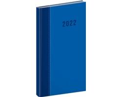 Kapesní týdenní diář Cambio Classic 2022, 9x16 cm - modrá