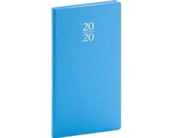 Kapesní týdenní diář Capys 2020, 9x16cm - světle modrá