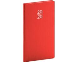 Kapesní týdenní diář Capys 2020, 9x16cm - červená