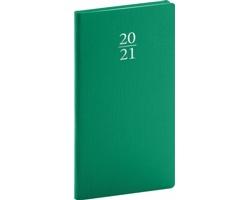 Kapesní týdenní diář Capys 2021, 9x16 cm - zelená