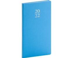 Kapesní týdenní diář Capys 2022, 9x16 cm - světle modrá