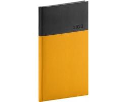 Kapesní týdenní diář Dado 2020, 9x16cm - žlutá / černá