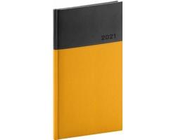 Kapesní týdenní diář Dado 2021, 9x16 cm - žlutá / černá