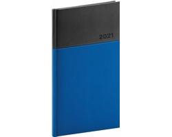 Kapesní týdenní diář Dado 2021, 9x16 cm - modrá / černá