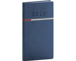 Kapesní týdenní diář Tomy 2020, 9x16cm - modrá / červená