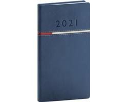 Kapesní týdenní diář Tomy 2021, 9x16 cm - modrá / červená
