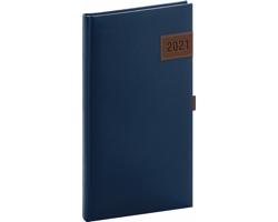 Kapesní týdenní diář Tarbes 2021, 9x16 cm - modrá