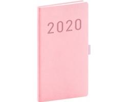 Kapesní týdenní diář Vivella Fun 2020, 9x16cm - růžová