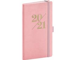 Kapesní týdenní diář Vivella Fun 2021, 9x16 cm - růžová