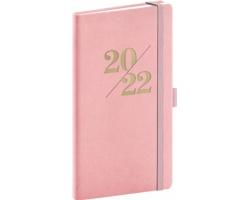 Kapesní týdenní diář Vivella Fun 2022, 9x16 cm - růžová