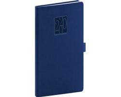 Kapesní týdenní diář Vivella Classic 2020, 9x16cm - modrá
