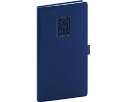 Kapesní týdenní diář Vivella Classic 2021, 9x16 cm - modrá