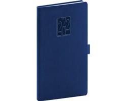 Kapesní týdenní diář Vivella Classic 2022, 9x16 cm - modrá