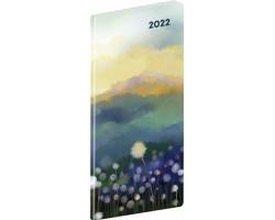 Kapesní měsíční diář Krajina 2022 plánovací, 8x18 cm