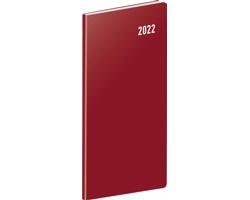Kapesní měsíční diář Vínový 2022 plánovací, 8x18 cm