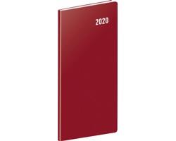 Kapesní měsíční diář Vínový 2020 plánovací, 8x18cm