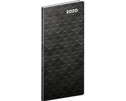 Kapesní měsíční diář Čierny kov SK 2020 plánovací, 8x18cm
