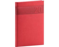 Týdenní diář Aprint 2020, 15x21cm - červená