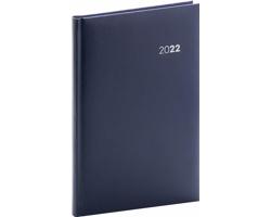 Týdenní diář Balacron 2022, 15x21 cm - tmavě modrá