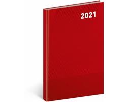 Týdenní diář Cambio Classic 2021, A5 - červená