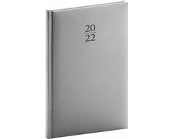Týdenní diář Capys 2022, 15x21 cm - stříbrná
