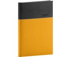 Týdenní diář Dado 2021, A5 - žlutá / černá