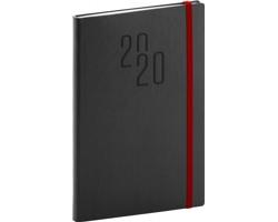 Týdenní diář Soft 2020, 15x21cm - černá