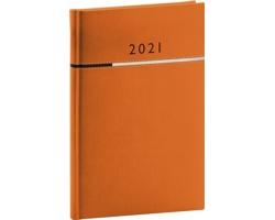 Týdenní diář Tomy 2021, A5 - oranžová / černá