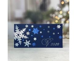 Otevírací novoročenka GL204 - modrá / stříbrná