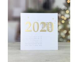 Otevírací novoročenka GL210 - bílá / zlatá