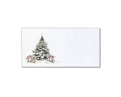 Novoroční PF karta GL2108 - bílá / zlatá