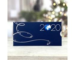 Vysouvací novoročenka GL211 - modrá / stříbrná