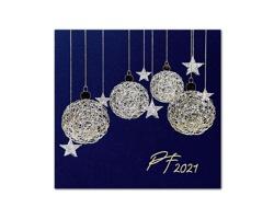 Otevírací novoročenka GL2118 - tmavě modrá / zlatá / stříbrná
