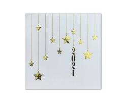 Otevírací novoročenka GL2119 - bílá / zlatá