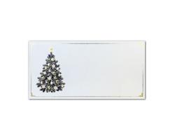 Novoroční PF karta GL2120 - bílá / zlatá