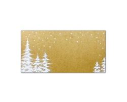 Novoroční PF karta GL2121 - hnědá / bílá