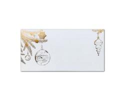Novoroční PF karta GL2123 - bílá / hnědá
