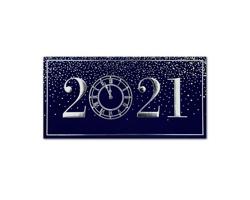 Otevírací novoročenka GL2125 - tmavě modrá / stříbrná / zlatá