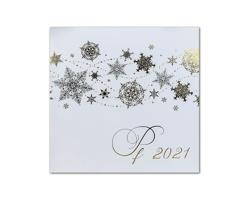 Otevírací novoročenka GL2126 - bílá / stříbrná / zlatá