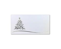 Novoroční PF karta GL2127 - bílá / zlatá