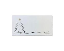 Novoroční PF karta GL2128 - bílá / stříbrná / zlatá