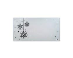 Novoroční PF karta GL2130 - bílá / stříbrná / tmavě šedá