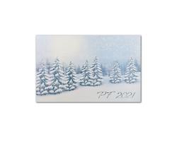Otevírací novoročenka GL2131 - bílá / modrá / stříbrná