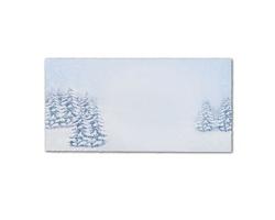Novoroční PF karta GL2132 - bílá / modrá