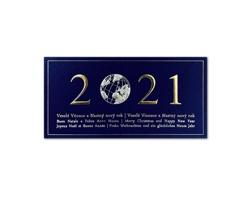 Otevírací novoročenka GL2134 - tmavě modrá / zlatá / stříbrná