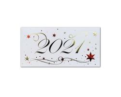 Otevírací novoročenka GL2135 - bílá / zlatá / červená